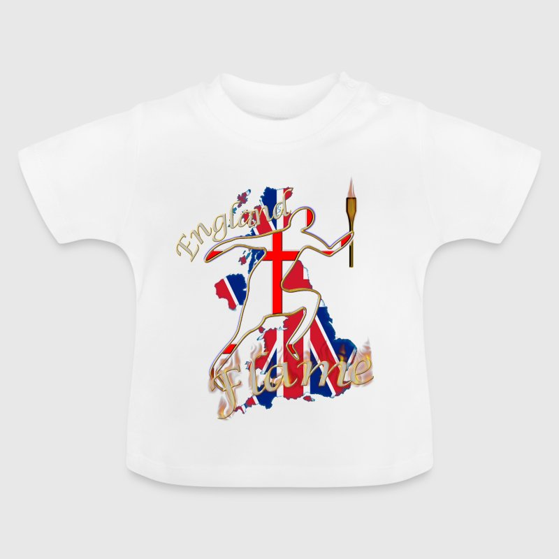 england st george uk torch runner - Baby T-Shirt