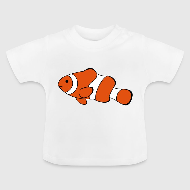 Clown Fish Drawing - Baby T-Shirt