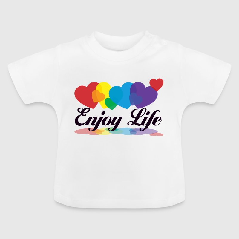 rainbow enjoy life - Baby T-shirt