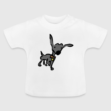 Wouf, j'entends un bruit - noir - T-shirt Bébé