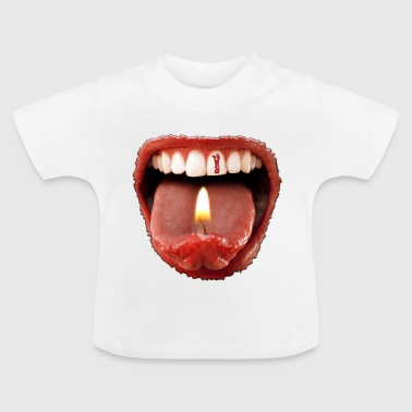 Date of birth 1 - tongue teeth - Baby T-Shirt