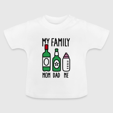 Dotter My family - mam dad me - Baby-T-shirt