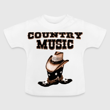 Country country music - Baby-T-shirt