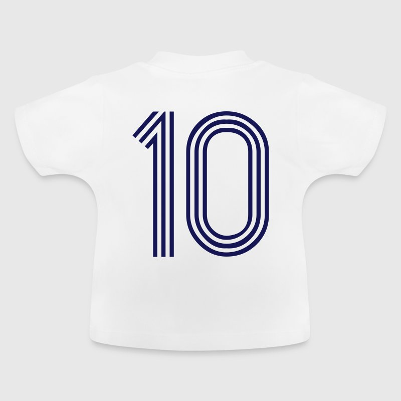 10, best football, fußball, football, soccer, sports, Zahlen, Ziffern, Numbers, Rennen, Race, www.eushirt.com - Baby T-Shirt