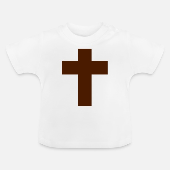 Christ Baby Clothes - Cross Religious EN - Baby T-Shirt white