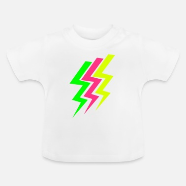 Neon Drei Blitze - Three Thunderbolts - Baby T-Shirt