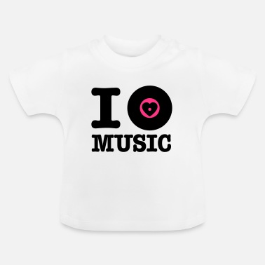 Vinyl i vinyl love music - Baby T-Shirt