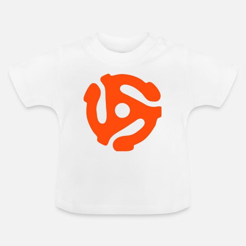 Record Baby Clothing - 45 rpm vinyl adapter - Baby T-Shirt white