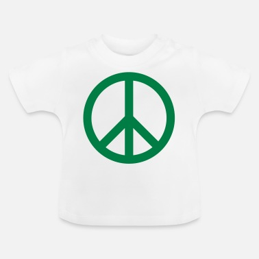 Green Peace Sign Filled Green - Baby T-Shirt