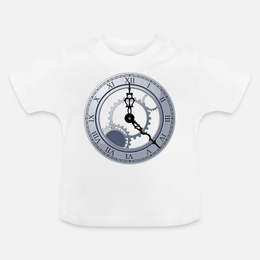 Clock movement pointer wheel gear wheel time - Baby T-Shirt