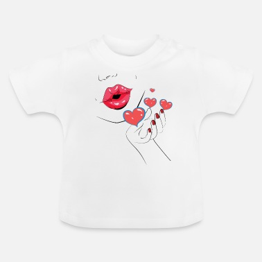 Kissing Lips Kiss - Kiss - Kiss - Lips - Lips - Baby T-Shirt