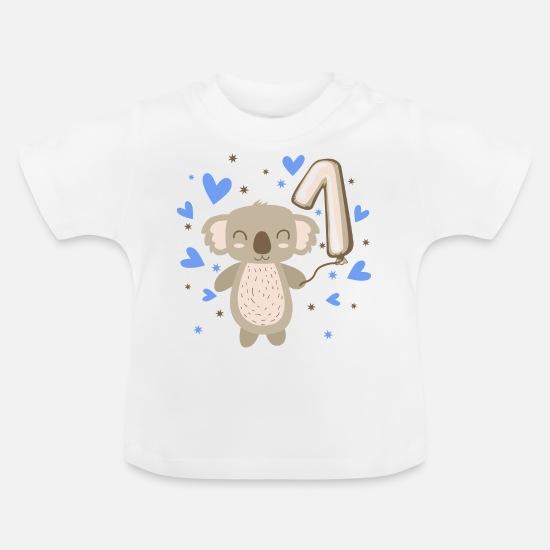 Eerste Verjaardag 1e Jongen Koala Cadeau Baby T Shirt