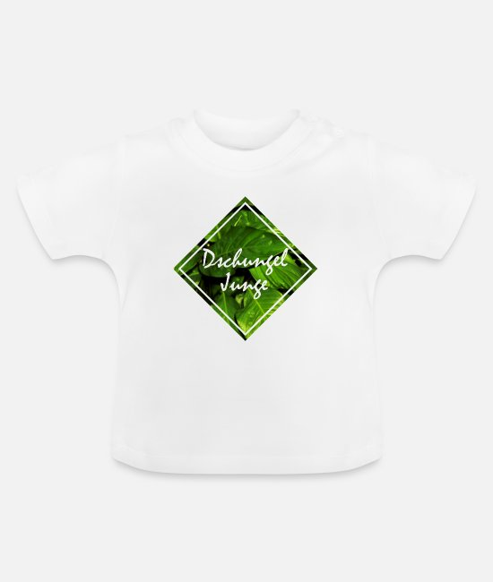 Forest Baby Clothes - Jungle jungle leaves - Baby T-Shirt white