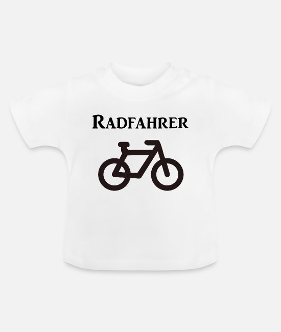 Love Baby Clothes - cyclist - Baby T-Shirt white
