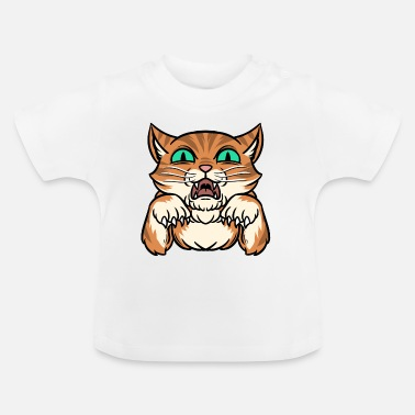 Aggression Katze Aggression Lustige Tiere - Baby T-Shirt