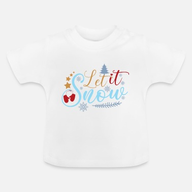 Manuskript Let It Snow Dekorativt kalligrafiscript - Baby T-shirt