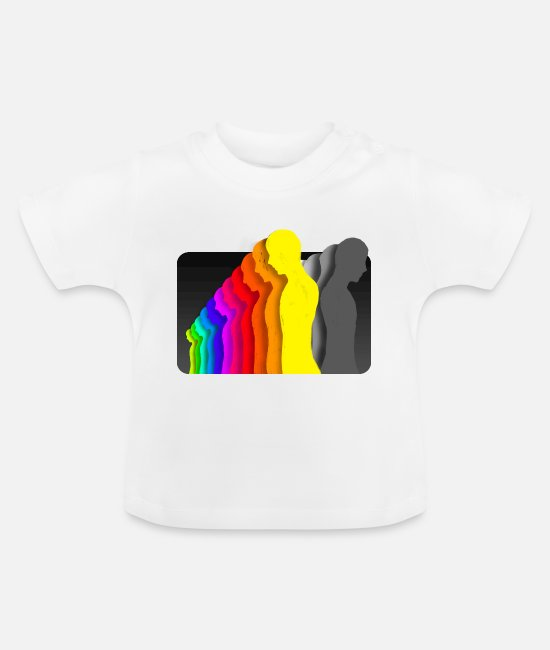 Group Baby T-Shirts - People Colors - Baby T-Shirt white