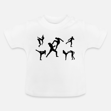 karate martial arts thai boxing ninja kickboxing45 - Baby T-Shirt