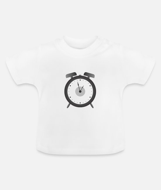 Single Baby T-Shirts - alarm clock - Baby T-Shirt white