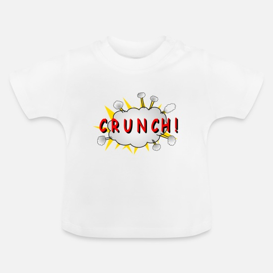 "Crunch Vêtements Bébé - Comic ""CRUNCH!"" - T-shirt Bébé blanc"
