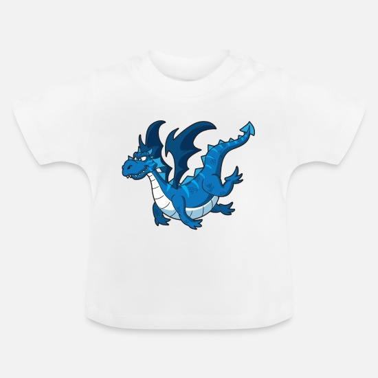 Big Baby Clothes - Dragons - Baby T-Shirt white