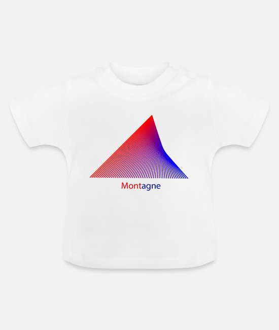 Mountains Baby T-Shirts - Montagne - Baby T-Shirt white