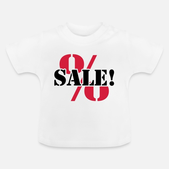 Sold Baby Clothes - For sale sale reduced percentages - Baby T-Shirt white