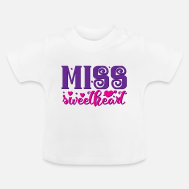 Lila Miss Sweetheart Color - Baby-T-shirt