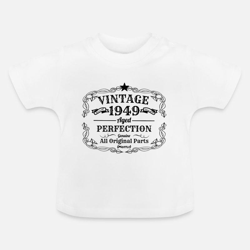 Vintage 1949 I 70 Geburtstag Opa Oma Geschenk Baby T Shirt Weiß