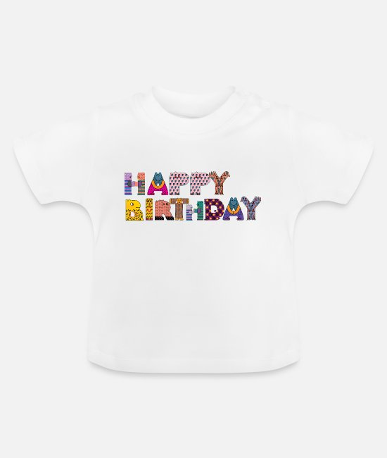 Cookie Baby shirts - happy birthday - Baby T-shirt wit