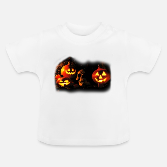Halloween Vêtements Bébé - happy_halloween_e - T-shirt Bébé blanc