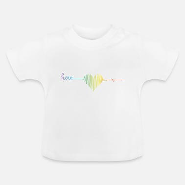 Miscellaneous Rainbow colors heart rate - Baby T-Shirt