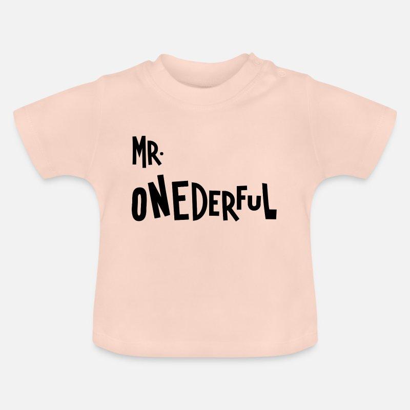 Baby T ShirtMr Onederful 1st Birthday Boy