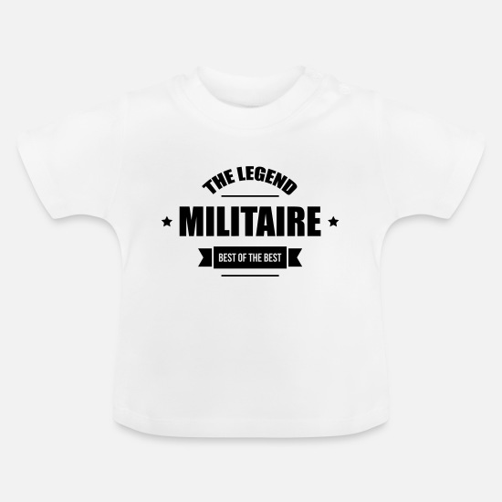 Militair  Babykleding - Militaire - Baby T-shirt wit