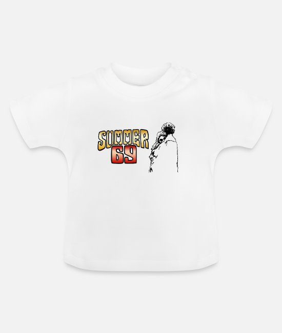 Woodstock Baby Clothes - Woodstock Festival Summer 1969 Anniversary - Baby T-Shirt white