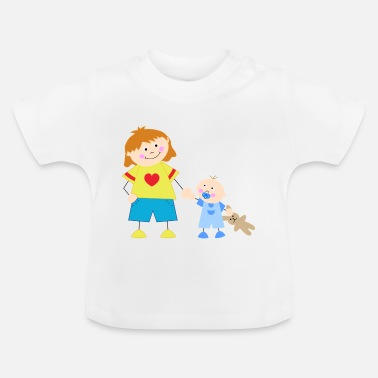 Little Brother The big sister and the little brother - Baby T-Shirt