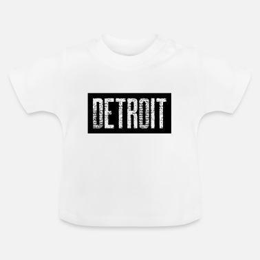 Down With Detroit Detroit USA Americas Cities City Michigan detroit - Baby T-Shirt