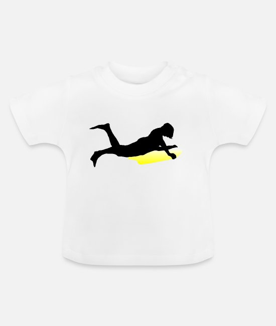Wave T-shirts Bébé - body board - T-shirt Bébé blanc