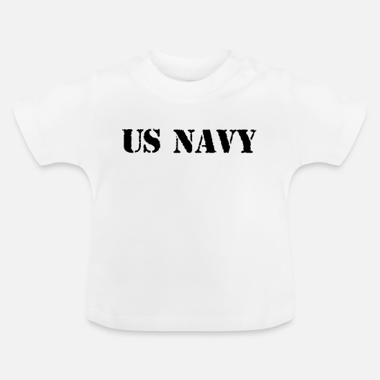 Army Baby Clothes - us navy - Baby T-Shirt white