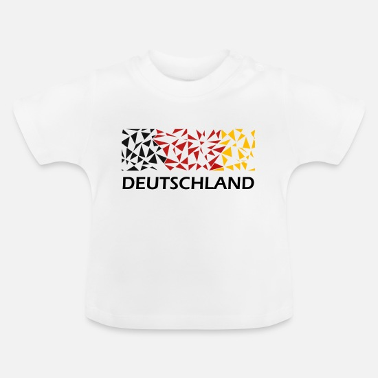 Red Baby Clothes - Germany World Cup Fan Shirt - Baby T-Shirt white