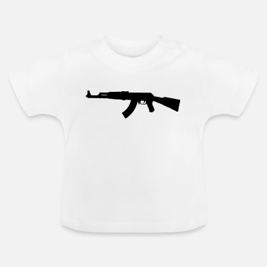 Assault Rifle AK47 assault rifle silhouette - Baby T-Shirt