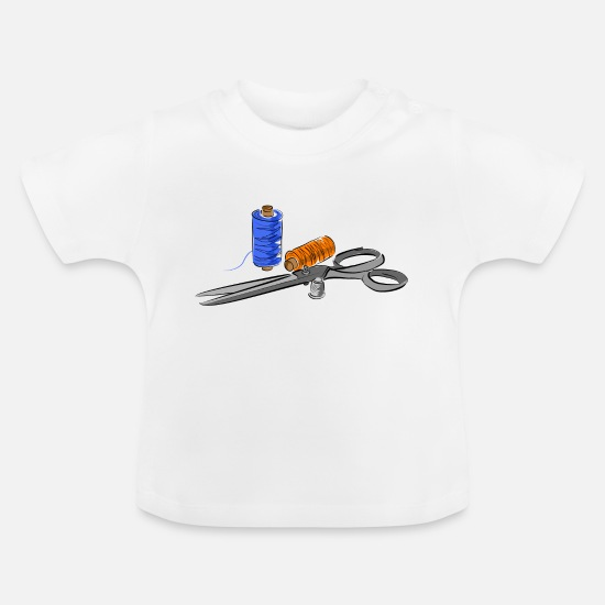 Scissors Baby Clothes - cutters - Baby T-Shirt white