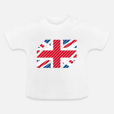Strip Great Britain National Flag - striped - Baby T-Shirt