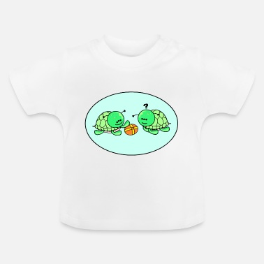 Hip cheerful Schildy with boyfriend and ball - Baby T-Shirt