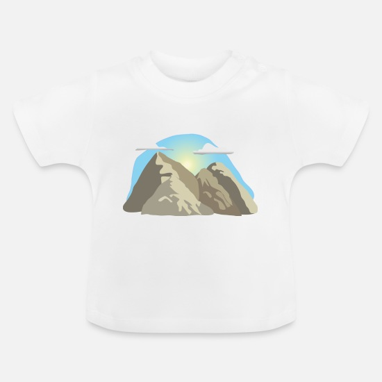 Wanderlust Baby Clothes - mountains glacier alps clouds sun gift - Baby T-Shirt white