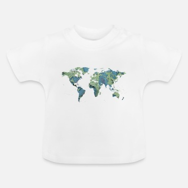 Map map of the world world map - Baby T-Shirt