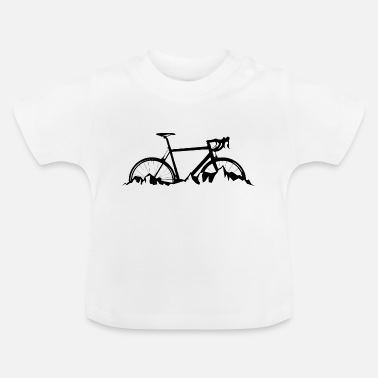 Travelling by road bike in the mountains - Baby T-Shirt