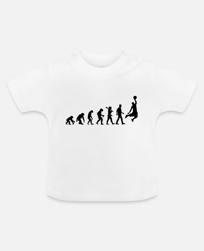 Darwin Baby T-Shirts - Evolution of Basketball - Baby T-Shirt Weiß