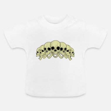 Rock 'n' Roll 7 schedels - Baby T-shirt