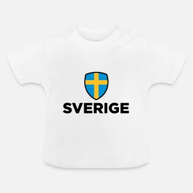Sverige Nationell flagg - Baby-T-shirt